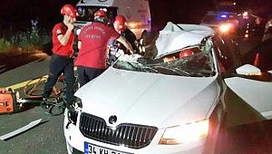 Organizede feci kaza: 1 ölü, 1 yaralı