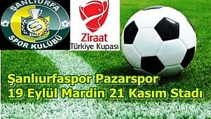 Şanlıurfaspor Kupa'da Pazarspor'u Ağırlıyor