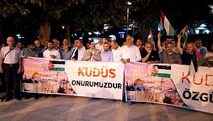 Şanlıurfa'da İsrail protesto edildi