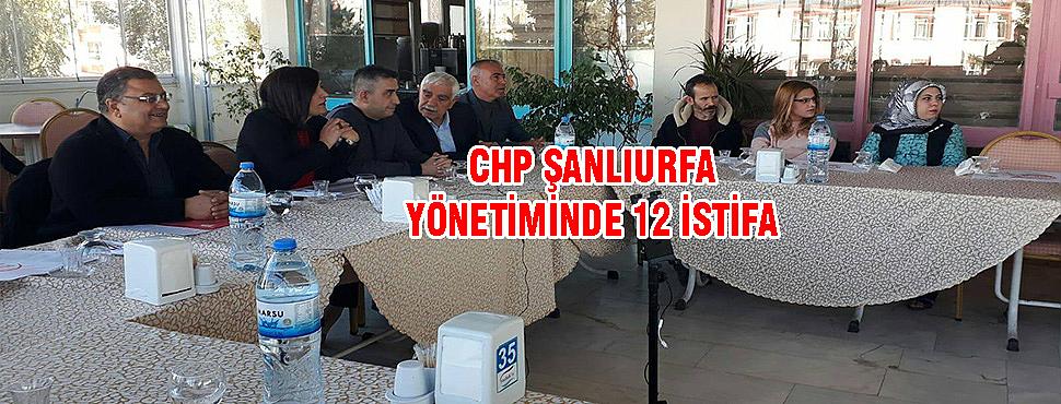 CHP Şanlıurfa'da istifa depremi