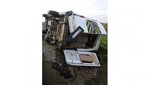 Karayolda Trafik Kazası; 11 Yaralı
