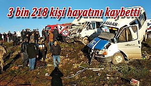 Kazada hayatını kaybedenlerin sayısında azalma oldu