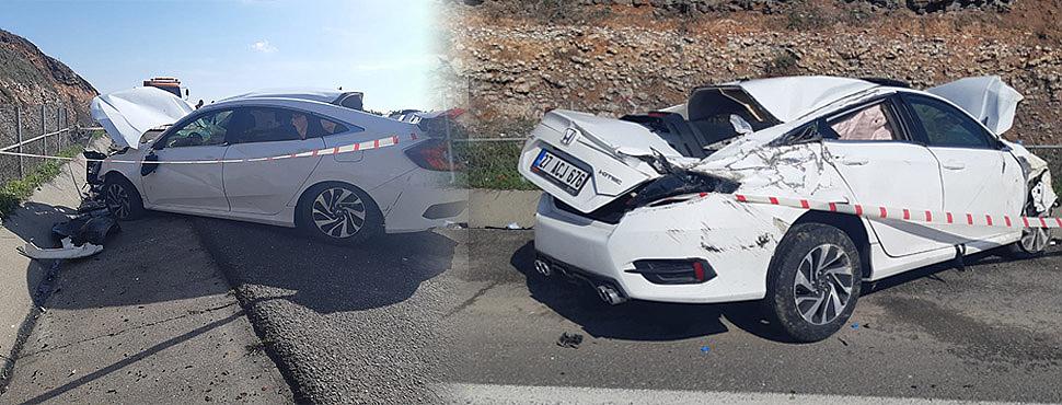 Birecik'te otomobil devrildi: 3 yaralı