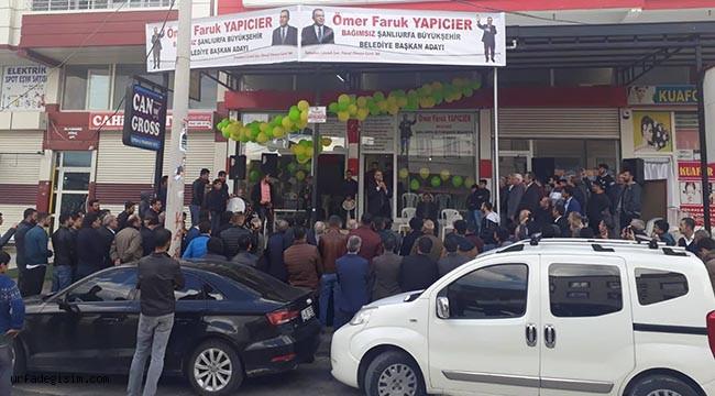 Bağımsız aday Yapıcıer, seçim bürosunu açtı