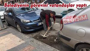 Belediye kirletti, vatandaşlar temizledi