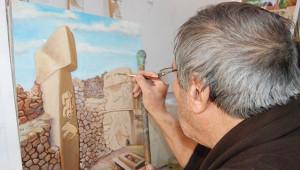 Fırça darbeleriyle Şanlıurfa tarihini yaşatıyor