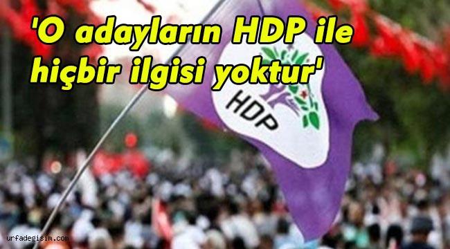 HDP'den flaş Karaköprü açıklaması