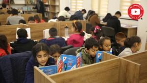 Karaköprü'de minikler okuma evlerinde