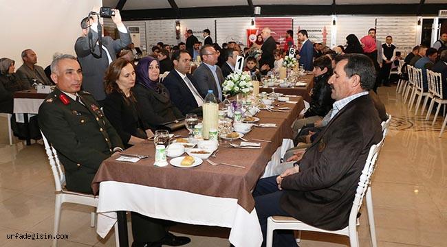 Şehit aileleri ve Gaziler onuruna yemek verildi