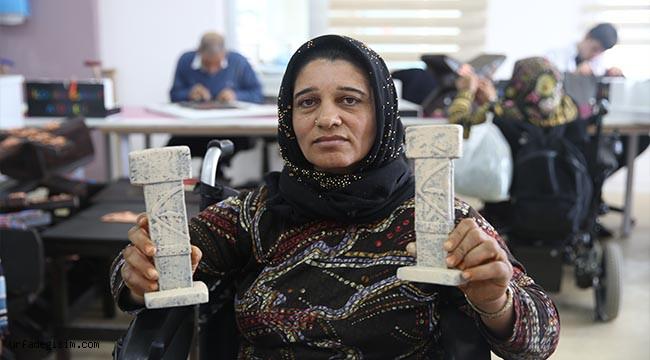 Yaşlı ve engelli kursiyerlerden