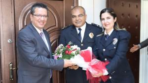 Polislerden Albayrak'a ziyaret