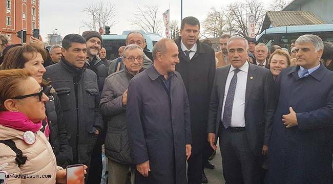 Urfa Milletvekili, sandık nöbetine gitti