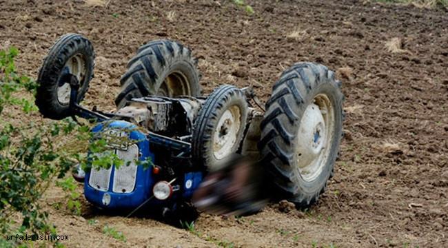 Devrilen traktör sonu oldu