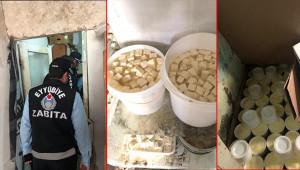 Eyyübiye'de kaçak imalathaneye baskın