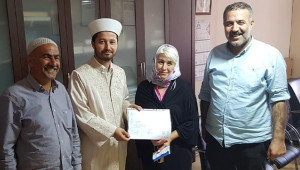 Moldovalı Maria Şanlıurfa'da Müslüman oldu