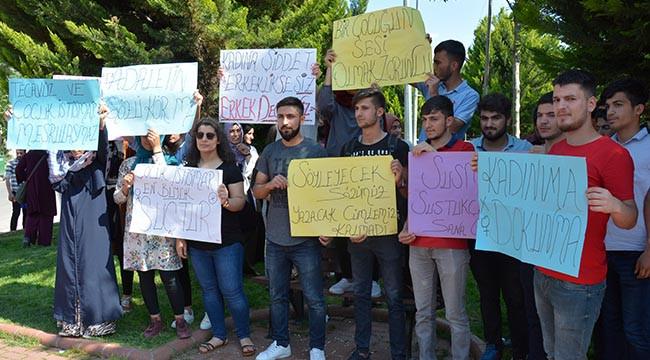Öğrenciler cinsel istismara karşı yürüdü