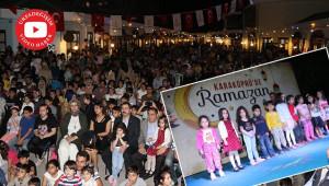 Ramazan etkinliklerinde çocuklar eğlendi