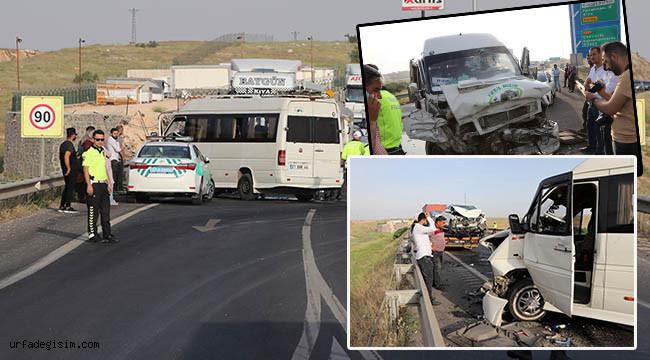 Yolcu minibüsü kaza yaptı: 11 yaralı