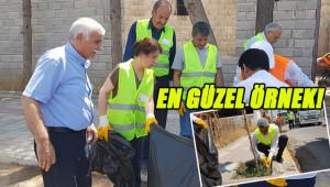 Belediye Eşbaşkanları çöp topladı