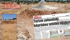 Büyükşehir, yıkılma tehlikesi geçiren köprüyü yıktı