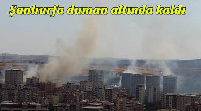 Karaköprü duman altında kaldı