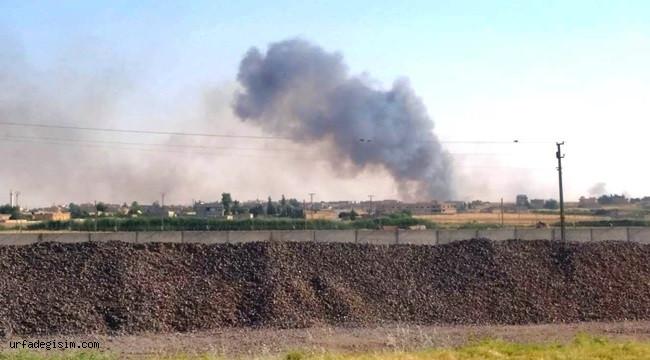 Terör örgütü Telabyad'da ekinleri yakıyor