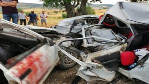 Trafik Kazası; 1 ölü, 7 yaralı