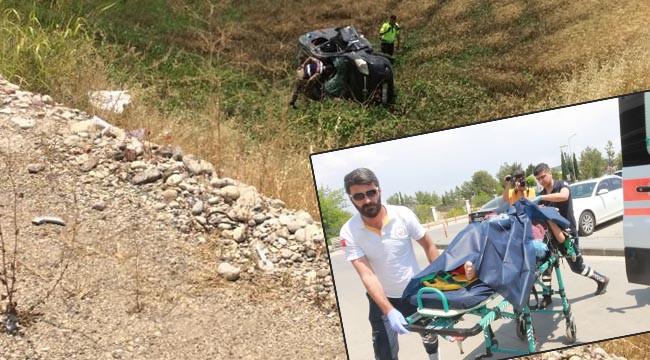Urfa plakalı araç şarampole devrildi: 1 ölü, 5 yaralı