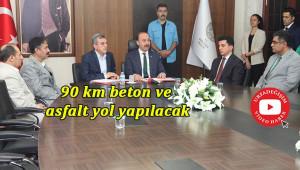 Valilik-Belediye işbirliği ile köy yollarını yapacak