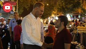 Vatandaşlarla sohbet etti
