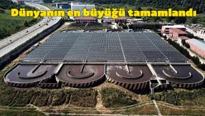 Atıksu tesisi üzerine güneş paneli kuruldu