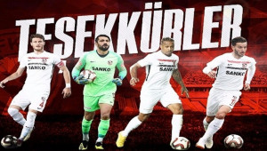 Gazişehir Gaziantep'ten 4 Oyuncuya Veda