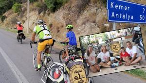 Göbeklitepe için pedal çeviren aile Antalya'da