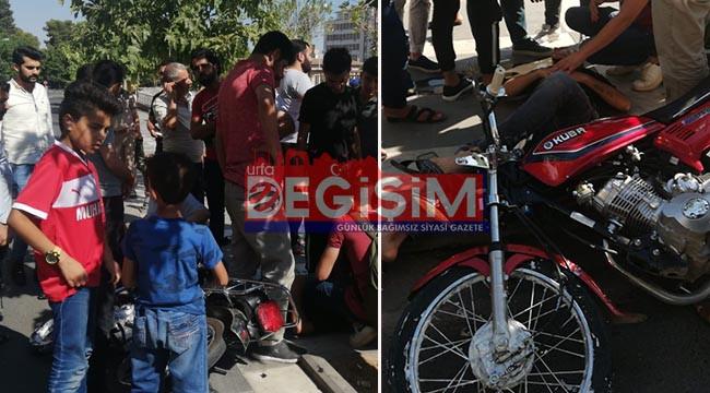 Motosiklet devrildi: 1 ağır yaralı