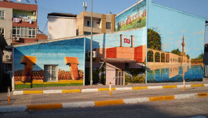 Turizm mekanları duvarlara resmedildi