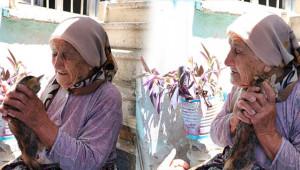 Yaşlı kadın yürekleri burktu