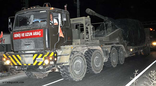 Zırhlı araçlar sınıra ulaştı
