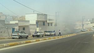 Eyyübiye'de otomobilden dumanlar yükseldi