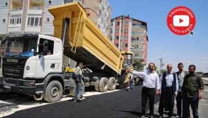 Siverek'te asfalt çalışmaları sürüyor