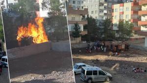Siverek'te odunluk yangını!