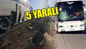 Urfa'ya gelen otobüs kaza yaptı