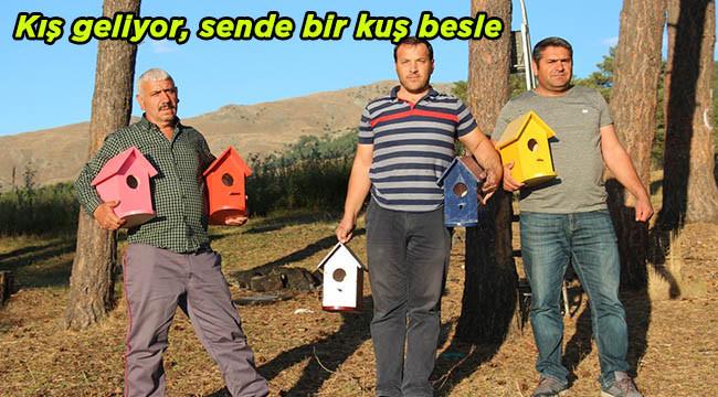 'Bir Kuşta Sen Barındır' sloganıyla kuşlara ev yaptı