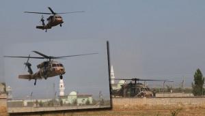 Helikopterler yine devriye için havalandı