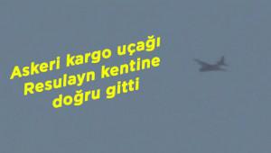 Sınırda askeri kargo uçağı görüntülendi
