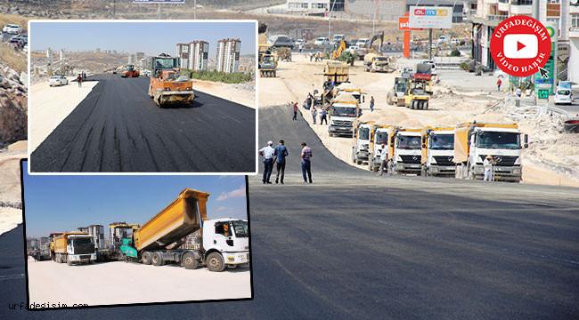 Sürekli tartışılan kavşakta asfalt serimi başladı