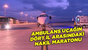 Ambulans uçak ile 4 kişinin tedavisi yapıldı