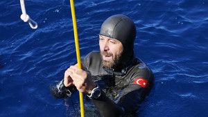 Dalış Şampiyonası'nda Rüstem Derin'den Türkiye rekoru
