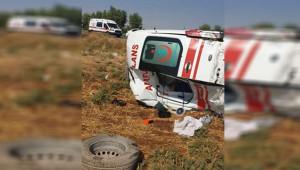 Kazadan dönerken kaza yaptı