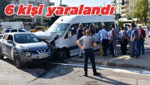 Öğrenci servisi kazaya karıştı: 6 yaralı