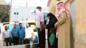 Sınır hattındaki Suriyelilere yardım